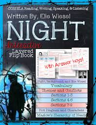 night book essay night by elie wiesel novel study literature guide  night by elie wiesel novel study literature guide flip book we night by elie wiesel interactive