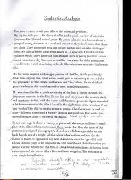 gcse film studies evaluation examples examples of evaluation essay