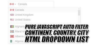 Javascript Keycode Chart Pure Javascript Auto Filter Continent Country City Html