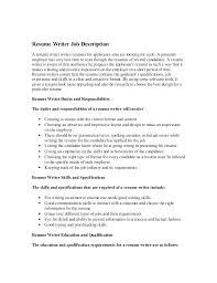 writing a job description template. Resume Job Descriptions Examples Job Description Resume Server