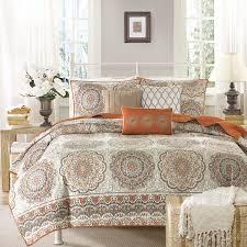 madison park tangiers orange bed linens