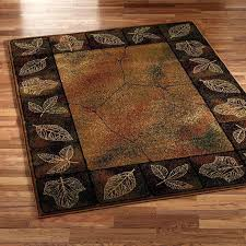 rustic area rug brown rustic area rug with leaves rustic area rugs rustic area rug