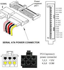 atx power supply pin out connector circuit wiring diagrams sata power connector circuit