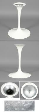 Tulip Table Base Eero Saarinen Knoll Eames Era Antique Helper Saarinen Dining Table Base Dimensions