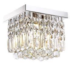 moooni hallway crystal chandelier 1 light w8 mini modern square flush mount