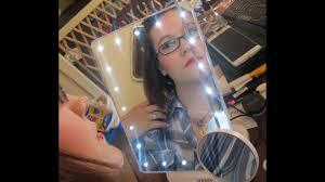 Review Time: Jerdon <b>Portable LED Lighted</b> Tabletop <b>Makeup</b> Mirror ...