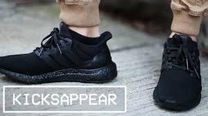 adidas ultra boost triple black. on feet: adidas ultra boost \ ultra boost triple black