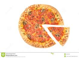 whole cheese pizza sliced. Perfect Sliced Whole Pizza Top View With A Slice Cut And Cheese Pizza Sliced E