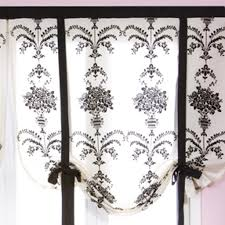 Damask Tie Damask Tie Up Balloon Curtain