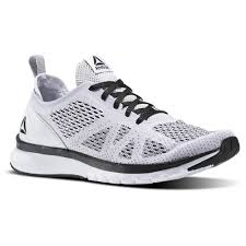 reebok mens running shoes. reebok - print smooth clip ultraknit white / black bs8576 mens running shoes e