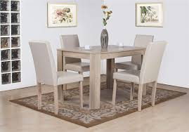 dover white oak effect wooden dining table and high back chair set chairs kitchen home wood