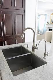 White Granite Kitchen Sink Sensa Silver Silk Granite With Dark Cabinets 64 Square Foot At