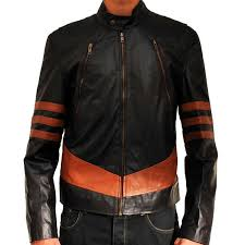 x men brown origins wolverine jackman hugh leather jacket