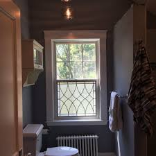 bathroom window glass. Classic Clear Textured Leaded Glass Window Insert Attached To Lower Bathroom H