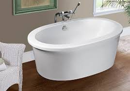 Modern Freestanding Bath with Flat Rim