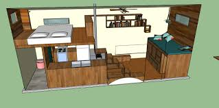 tiny house plan, SketchUp model