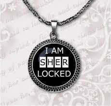 sherlock holmes pendant gl necklace fantasy green black purple white necklace for women men art gifts jewelry hz1