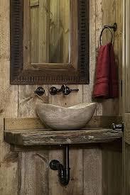 rustic half bathroom ideas. Rustic Wood Powder/Half Bath With Stone Vessel Sink Rustic Half Bathroom Ideas K