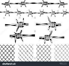 wire fence transparent. Barbed Wire Elements - Isolated And Transparent Repeating Vectors. Fence