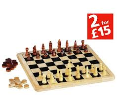 Wooden Board Games Uk Buy Chad Valley Wooden Chess and Draughts Board Game at Argosco 26