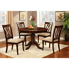 interior com furniture of america frescina round dining table tables cherry with leaves leaf plans wood