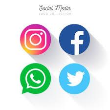 facebook twitter instagram logo. Interesting Instagram Popular Social Media Circular Logo Collection Throughout Facebook Twitter Instagram Logo Freepik