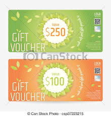 Clipart Coupon Template Gift Certificate Voucher Coupon Template In Nature Theme Vector