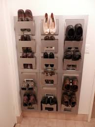 interesting and inspiring design of vertical shoe storage which is created using paper holder idea changed elegant style of wooden