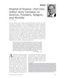 Arthur Compton Contribution To Light Pdf Prophet Of Science Part One Arthur Holly Compton On