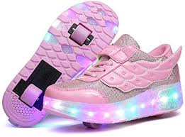 Amazon.com | Nsasy Kids Roller Shoes Boy Girl Sneakers with Wheels Become Sport Sneaker with Led for Children Gift | Sneakers