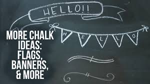 Chalkboard Art Ideas | Flags, Banners, & Text Dividers | Time-Lapse -  YouTube