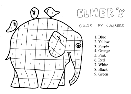 2nd Grade Elmer The Patchwork Elephant Coloring Page Extra Project