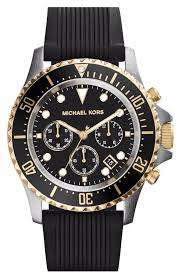 17 best images about michael kors men s watches michael kors everest chronograph black dial black silicone mens watch mk8366