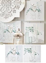 3 vase eucalyptus wall art set of 2