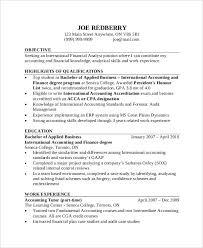 Accounting Resume Examples Interesting 60 Free Accountant Resume Templates PDF DOC Free Premium