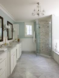 use large bathroom tiles traditional small bathroom with corner shower and chandelier plus large tiles