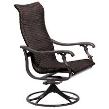 design design outdoor swivel glider chair ravello woven swivel rocker tropitone