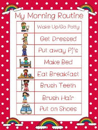 Daily Routine Chart 4 Rainbow Themed Daily Routine Charts Preschool 3rd Grade Routine Activity