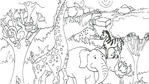 Zoo Coloring Pages Zoo Animals Coloring Page Preschool Coloring