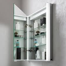 Aluminium Bathroom Cabinets Duo 600 Illuminated Mirrored Cabinet In Mirrored Cabinets Luxury
