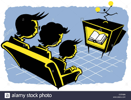 family watching tv clipart. illustration, family sitting on sofa, watching tv tv clipart
