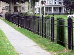 Ornamental Aluminum Fence Installed Aluminum Fencing Poly