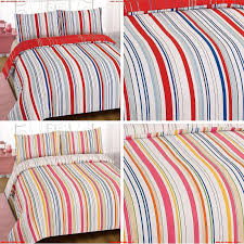 duvet cover with pillowcase bedding set karla hearts stripe print pink blue red wnezb0li