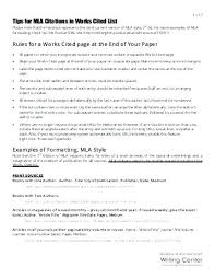 Example Of Essay In Mla Format Mla Format Example Essay Writing In Sample Paper Bibliography