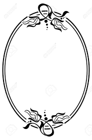 oval frame design. Silhouette Oval Frame With Abstract Flower Ornament. Design Element For  Banners, Labels, Greeting Design