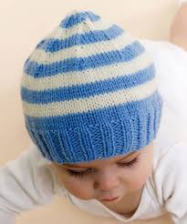 Free Knitting Patterns For Baby Hats Mesmerizing Free Knitting Patterns Baby Hats Stripe Knit Baby Hat Knitting