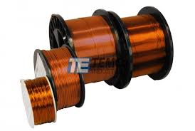 copper magnet wire amber magnetic coil winding 200°c temco temco copper magnet wire amber 1