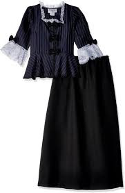 Charades Costume Size Chart Charades Childs Colonial Girl Costume Dress Small