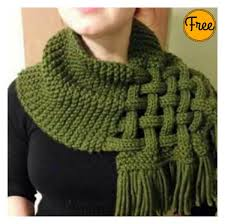 Free Knitting Patterns For Scarves Delectable Beautiful Celtic Knot Looped Scarf Free Knitting Pattern