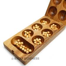 Wooden Game With Marbles New Wooden Kalaha mancala Strategy folding board games high 15